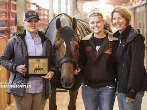 Team Gif: NSBA Winners Karla Friedli with Hannah & Margie Buchholz