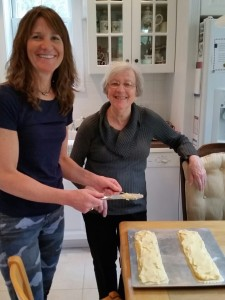 The fun continued with Mom - baking - another Holiday tradition. Sharing time, the best gift of all!